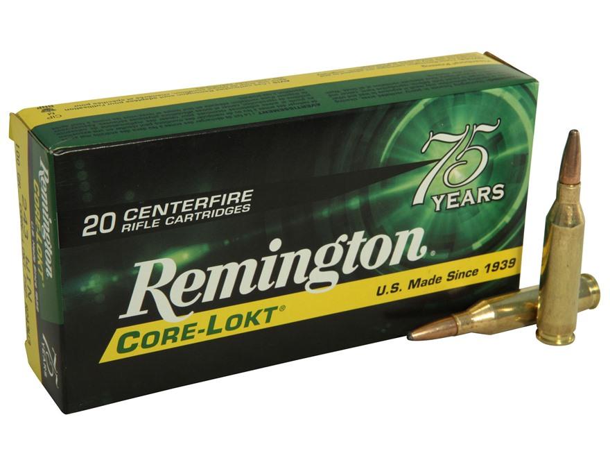 Remington Express Ammunition 243 Winchester 100 Grain Core-Lokt Pointed Soft Point Box ...