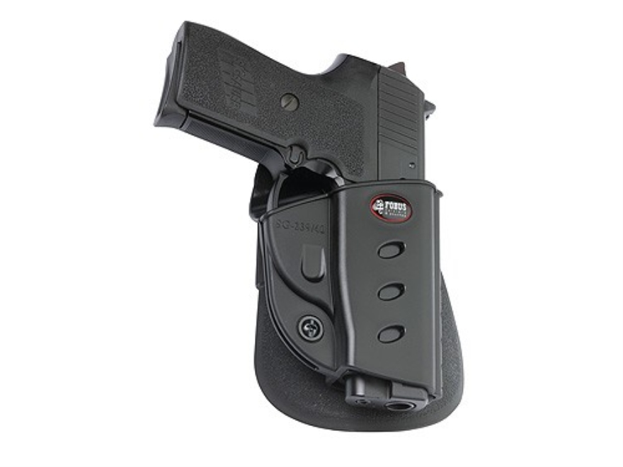 Fobus Evolution Paddle Holster Right Hand Sig Sauer P239 40 S&W Polymer Black