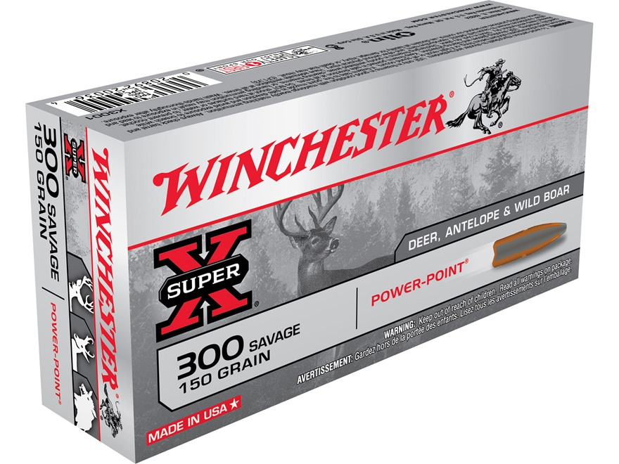 Winchester Super-X Ammunition 300 Savage 150 Grain Power-Point Box of 20