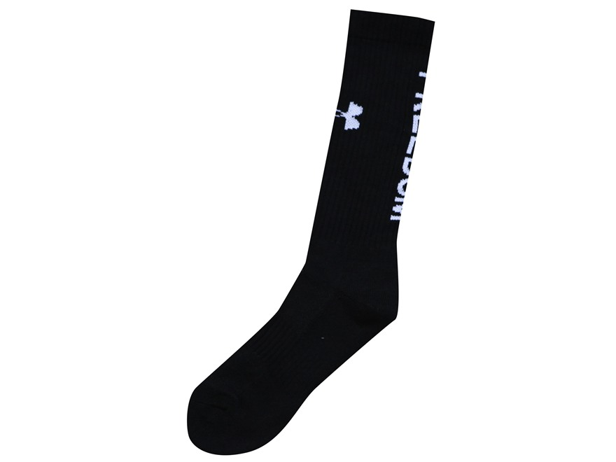 Under Armour Men's HeatGear Freedom Crew Socks Polyester Black Large (9-12-1/2) Pack of 2