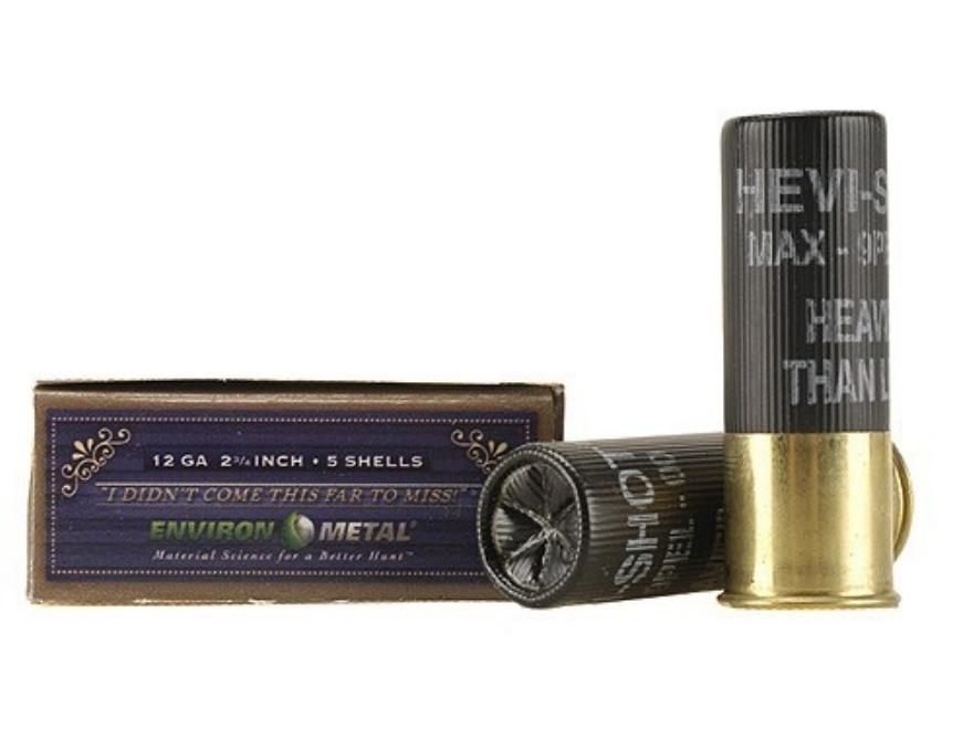 "Hevi-Shot Dead Coyote Ammunition 12 Gauge 2-3/4"" 00 Hevi-Shot Buckshot Non-Toxic 9 Pellets Box of 5"