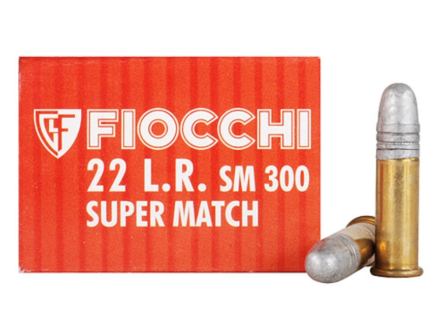 Fiocchi Exacta Pistol Super Match Ammunition 22 Long Rifle 40 Grain Lead Round Nose