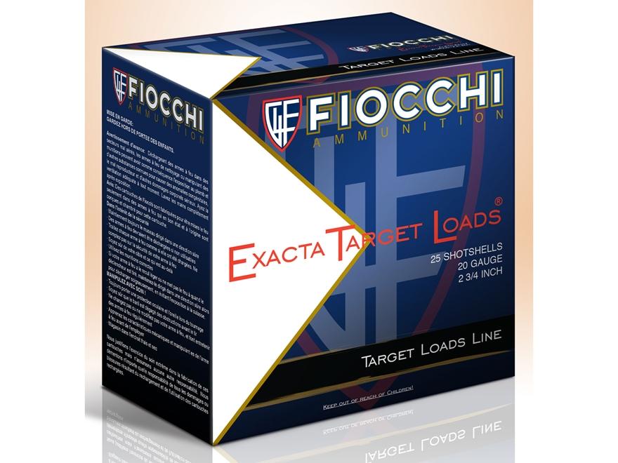 """Fiocchi Low Recoil Ammunition 20 Gauge 2-3/4"""" 7/8 oz #7 Non-Toxic Steel Shot Box 25"""