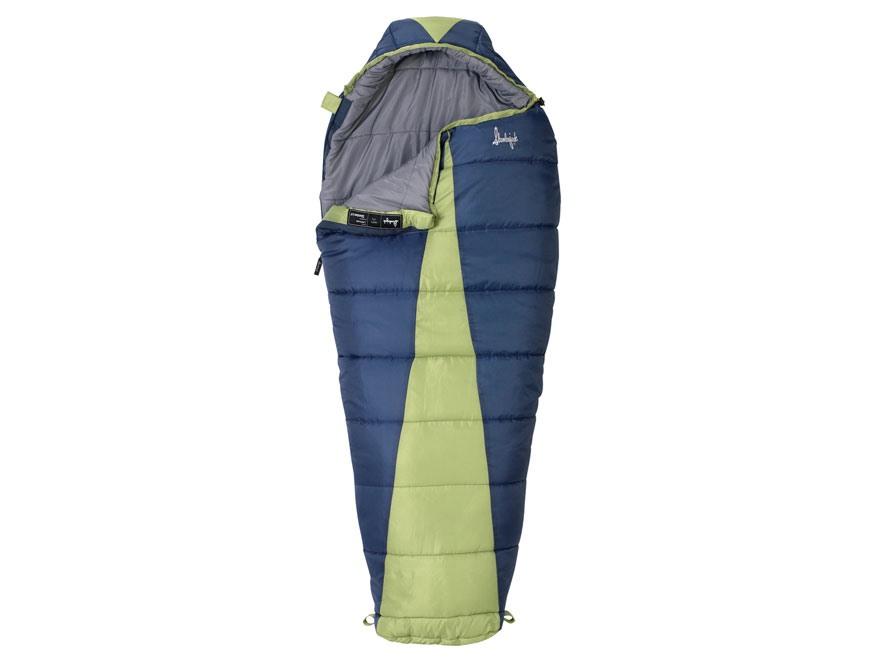 Slumberjack Women's Latitude 20 Degree Mummy Sleeping Bag Polyester Green and Gray