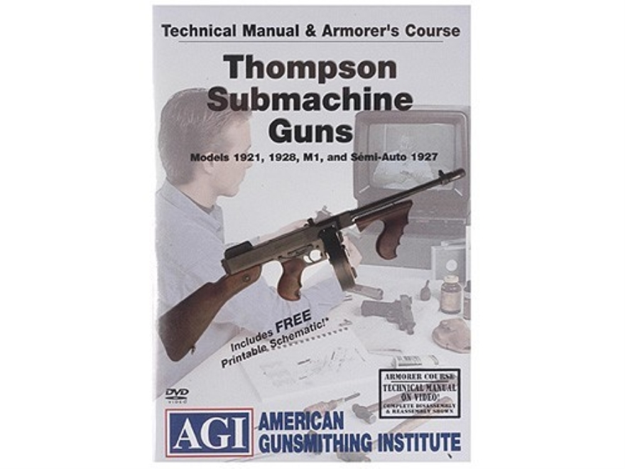 "American Gunsmithing Institute (AGI) Technical Manual & Armorer's Course Video ""Thompson"" DVD"