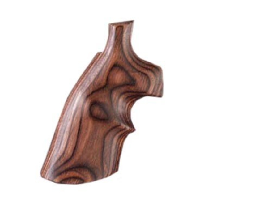 Hogue Fancy Hardwood Grips with Top Finger Groove Taurus Medium and Large Frame Revolvers Round Butt