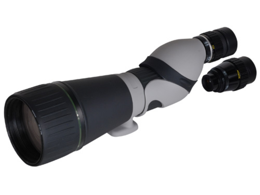 Leupold Kenai HD Spotting Scope 25-60x 80mm Straight Body Gray/Black with Tripod, Hard and Soft Case