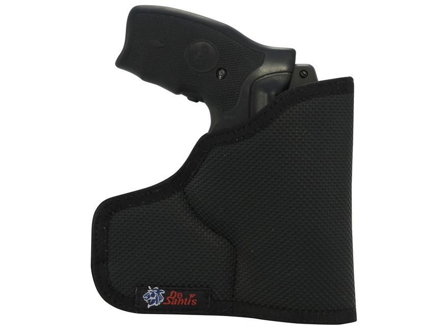 "DeSantis Ammo Nemesis Pocket Holster Ambidextrous S&W J-Frames 2""-2.5"", Bodyguard 38, Taurus 85 2"", Ruger LCR 1.875"" Nylon Black"