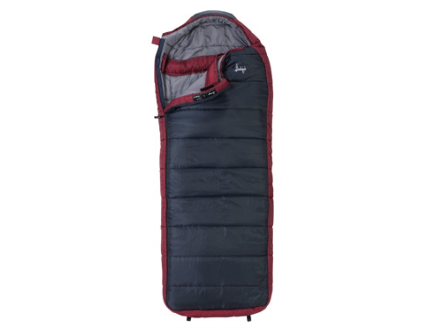 "Slumberjack Esplanade 0 Degree Sleeping Bag 34"" x 84"" Polyester Navy and Red"