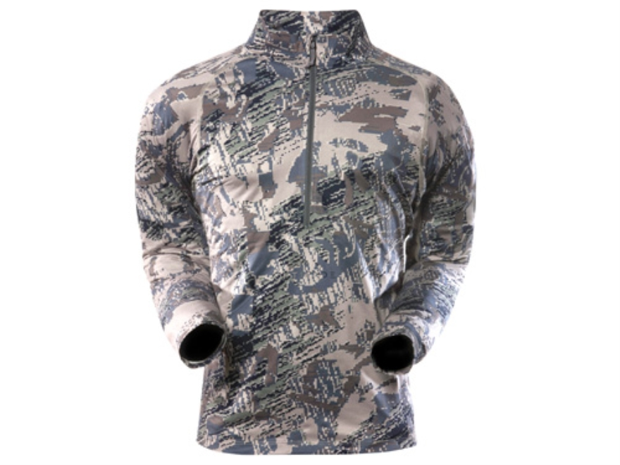 Sitka Gear Men's Core Zip-T Base Layer Shirt Long Sleeve Polyester Gore Optifade Open Country Camo Large 42-45