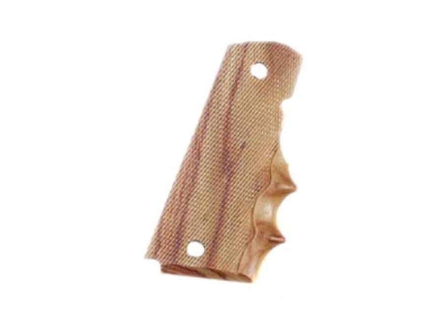 Hogue Fancy Hardwood Grips with Finger Grooves 1911 Government, Commander Checkered