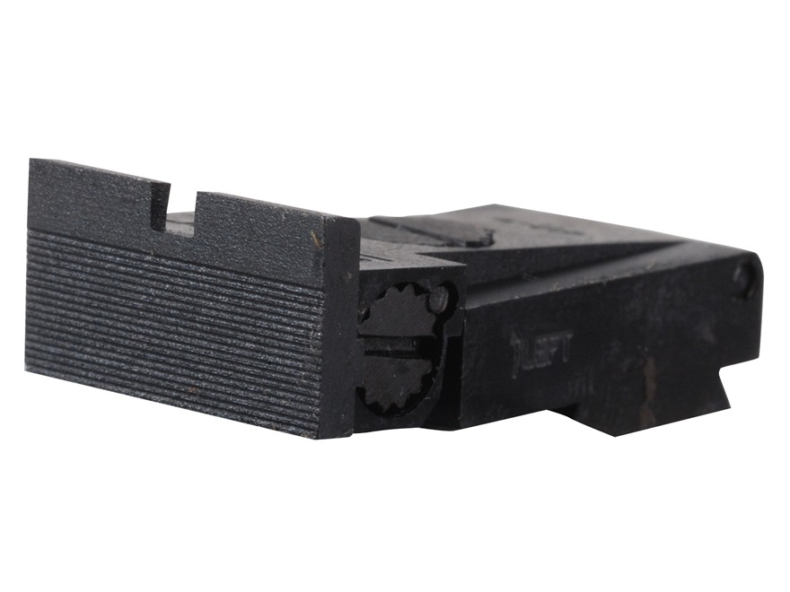 Kensight Adjustable Rear Sight Ruger Mark II, Mark III Steel Black Square Blade Fully Serrated