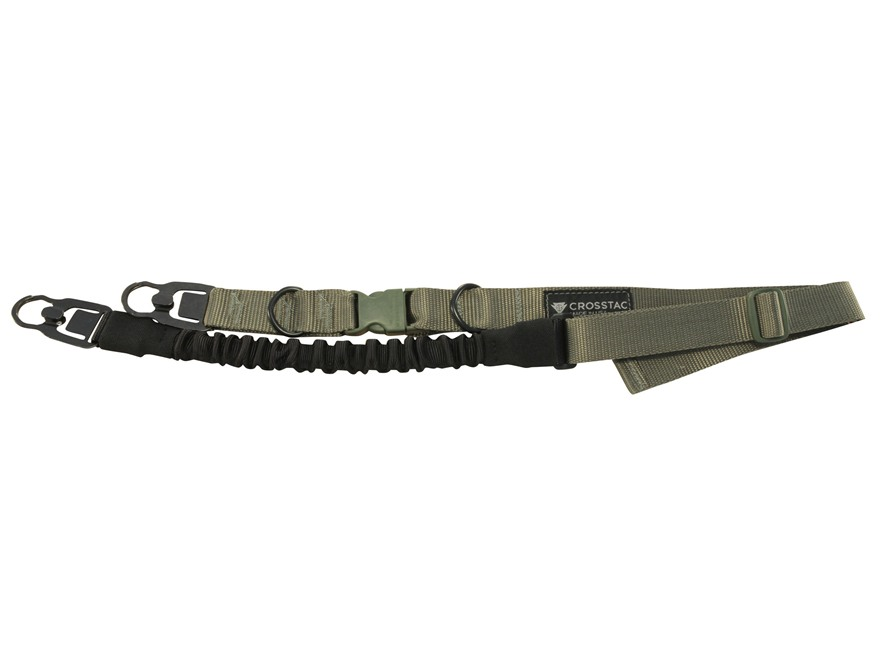 CrossTac Tactical Single/Double Point Sling with Mash Hooks Nylon Bungee