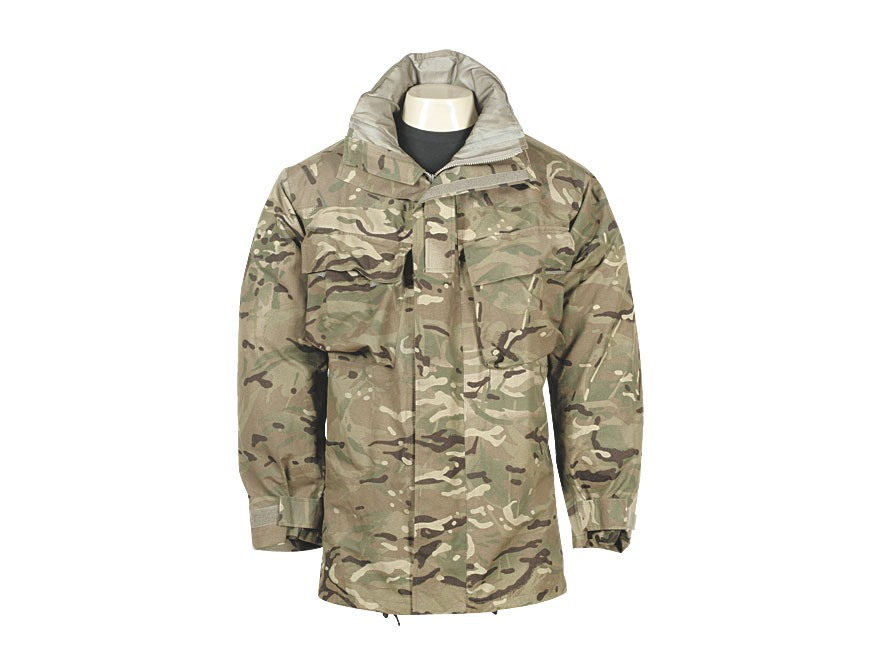 Military Surplus British Wet Weather Combat Jacket Multi-Terrain Pattern Camo L