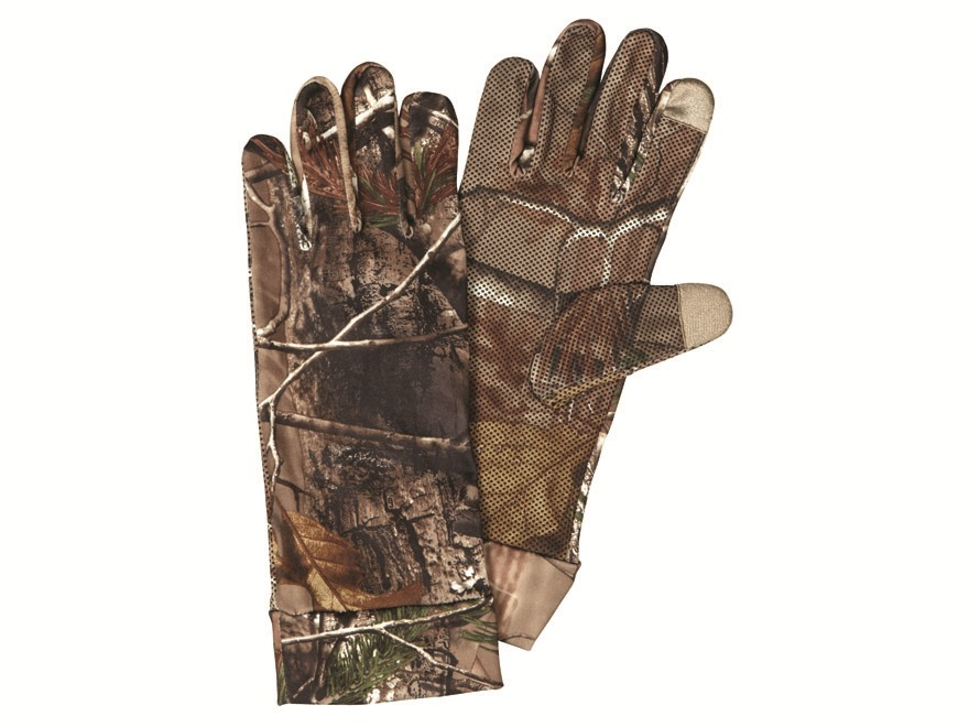 Hunter's Specialties Bite Grip Tech Spandex Gloves Polyester Realtree Xtra Camo