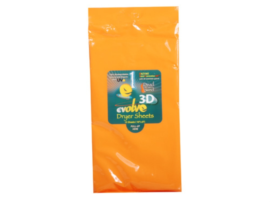 Dead Down Wind Scent Elimination Dryer Sheets Odorless Pack of 15