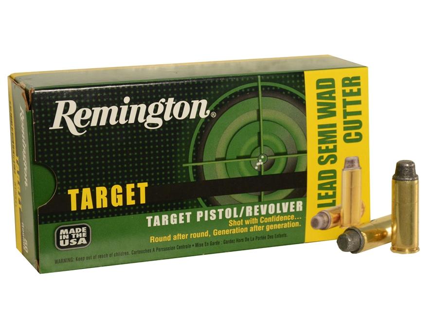Remington Target Ammunition 45 Colt (Long Colt) 225 Grain Lead Semi-Wadcutter Box of 50