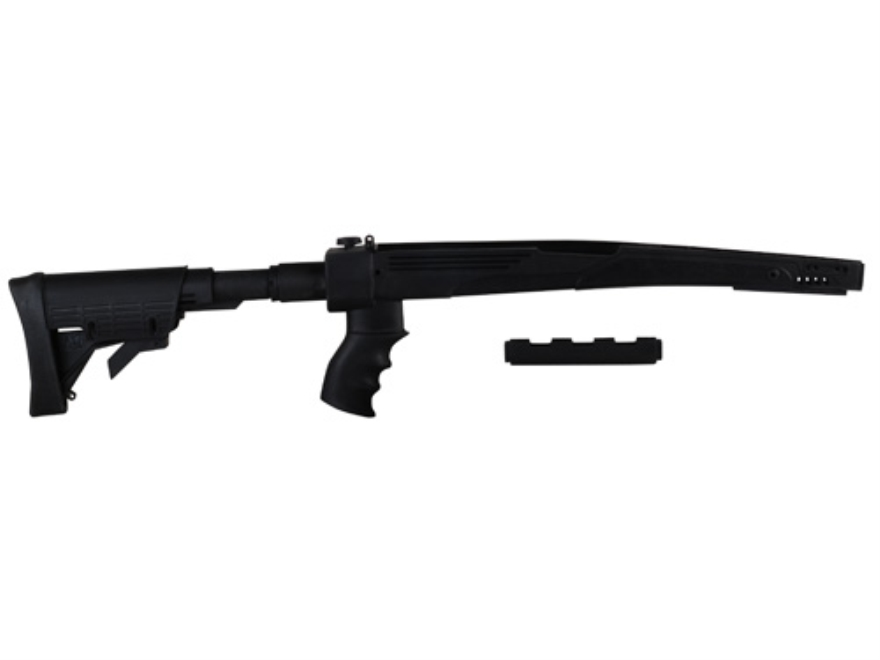 Advanced Technology Ultimate Professional Strikeforce 6-Position Collapsible Side Folding Rifle Stock with Aluminum Upgrade & Scorpion Recoil System SKS Black