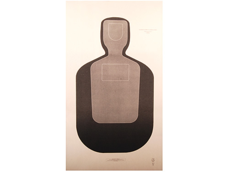 "NRA Official Training and Qualification Targets Law Enforcement TQ-19 24"" x 42"" Paper Package of 100"