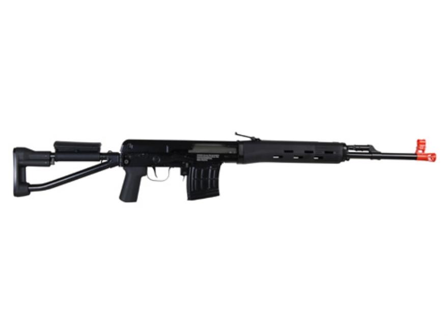 Aftermath Dragunov SVD Sniper Airsoft Rifle 6mm Spring Polymer Black