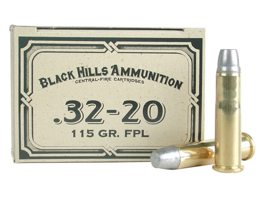 Black Hills Cowboy Action Ammunition 32-20 WCF 115 Grain Lead Flat Nose Box of 50