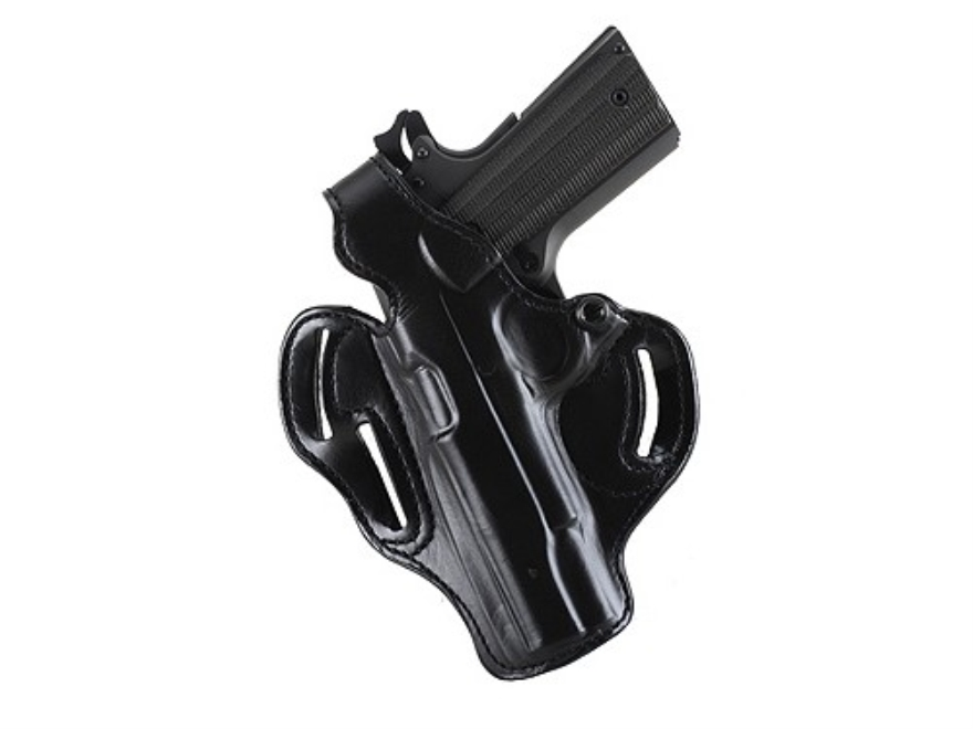 DeSantis Thumb Break Scabbard Belt Holster Left Hand HK USP 45 ACP Suede Lined Leather Black