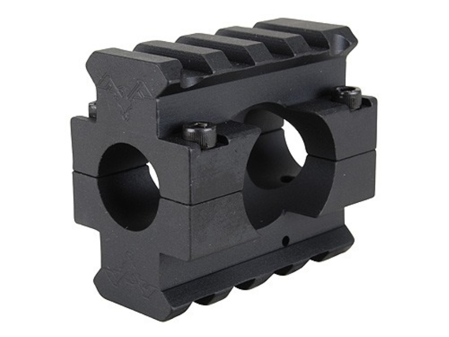 "DoubleStar Gas Block 2 Picatinny Rail AR-15, LR-308 Lightweight Barrel .625"" Inside Diameter Aluminum Matte"