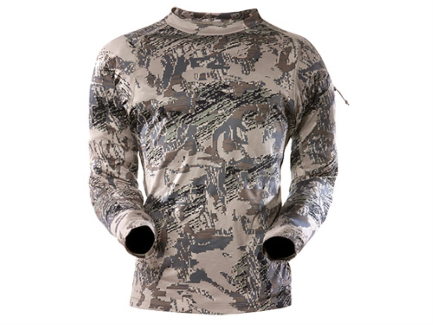 Sitka Gear Men's Core Crew Base Layer Shirt Long Sleeve Polyester Gore Optifade Open Country Camo Large 42-45