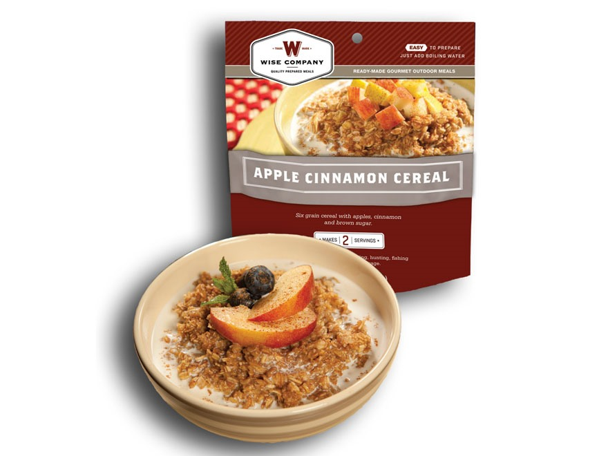 Wise Food Outdoor Apple Cinammon Cereal Freeze Dried Food 5 oz Pack of 6