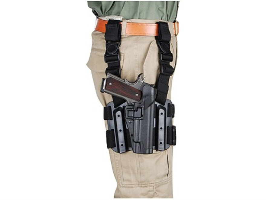 BLACKHAWK! Tactical Serpa Thigh Holster Right Hand Glock 17, 19, 22, 23, 31, 32 Polymer...