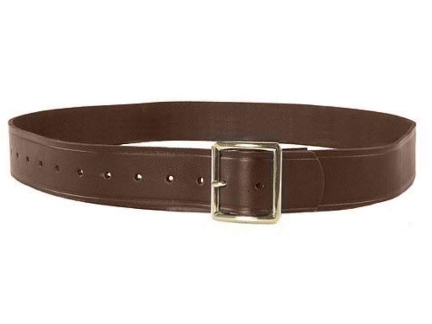 """Oklahoma Leather Strap Leather Holster Belt 1-3/4"""" Brass Buckle Leather"""