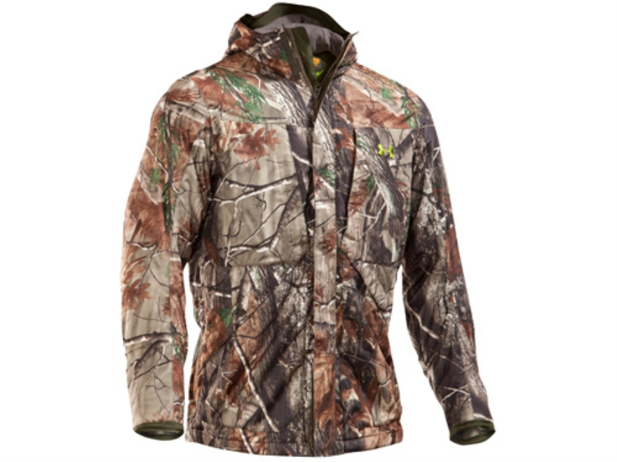 Under Armour Men's Gunpowder Scent Control Waterproof Insulated Jacket Polyester Realtree AP Camo Medium 38-40