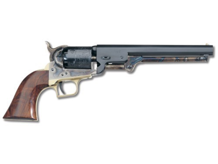 "Uberti 1851 Navy Black Powder Revolver 36 Caliber 7.5"" Barrel Steel Frame Squareback Tr..."