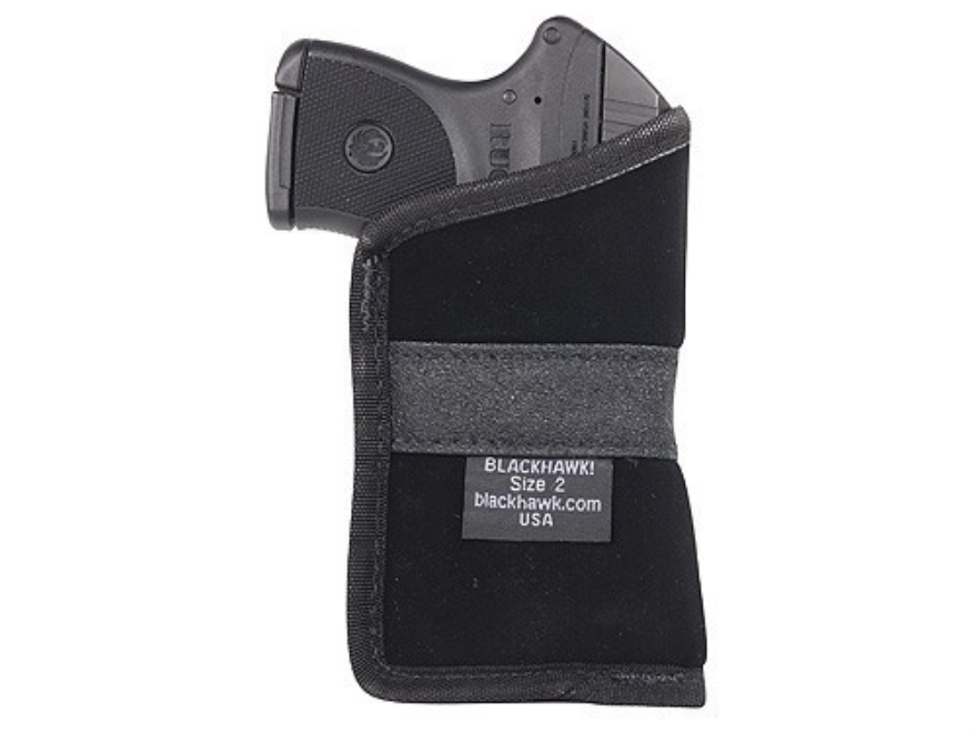 BLACKHAWK! Pocket Holster Ambidextrous Small Frame Semi-Automatic 380 ACP 4-Layer Laminate Black