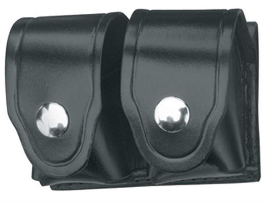 Gould & Goodrich B162 Speedloader Pouch Colt King Cobra, Python, Trooper, Ruger GP100, Security Six, S&W 10, 13, 19, 64, 65, 66, 586, 686 Leather Black