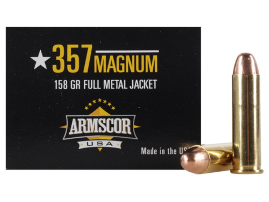 Armscor Ammunition 357 Magnum 158 Grain Full Metal Jacket Box of 50