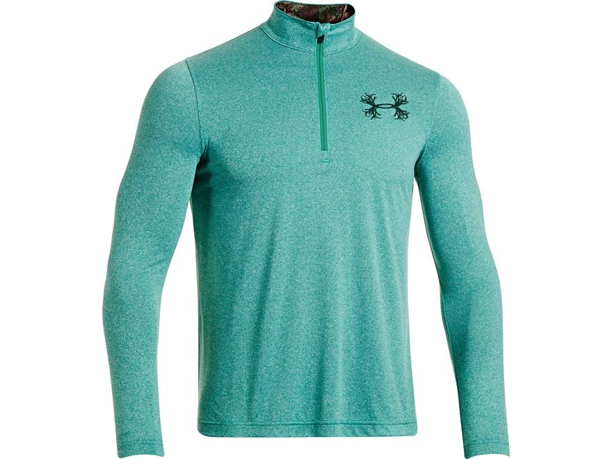 Under Armour Men's Borderland 1/4 Zip Shirt Long Sleeve Polyester