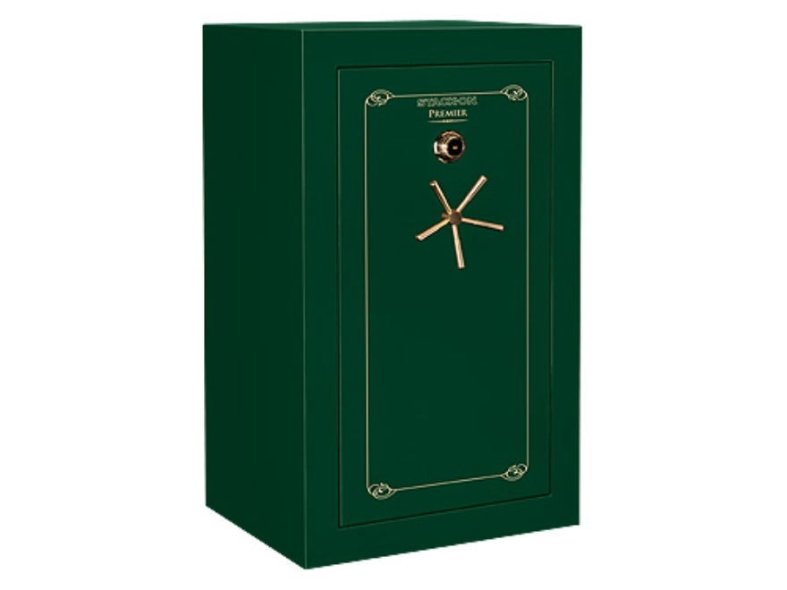 Stack-On Premier 40-Gun Fire-Resistant and Waterproof Safe with UL Rated Combination Lock High Gloss Hunter Green