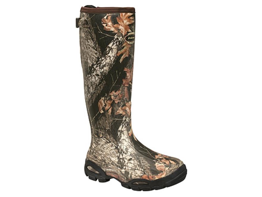 """LaCrosse Alpha Burly Sport 18"""" Waterproof Uninsulated Hunting Boots Rubber Clad Neoprene Mossy Oak Break-Up Camo Men's 7"""