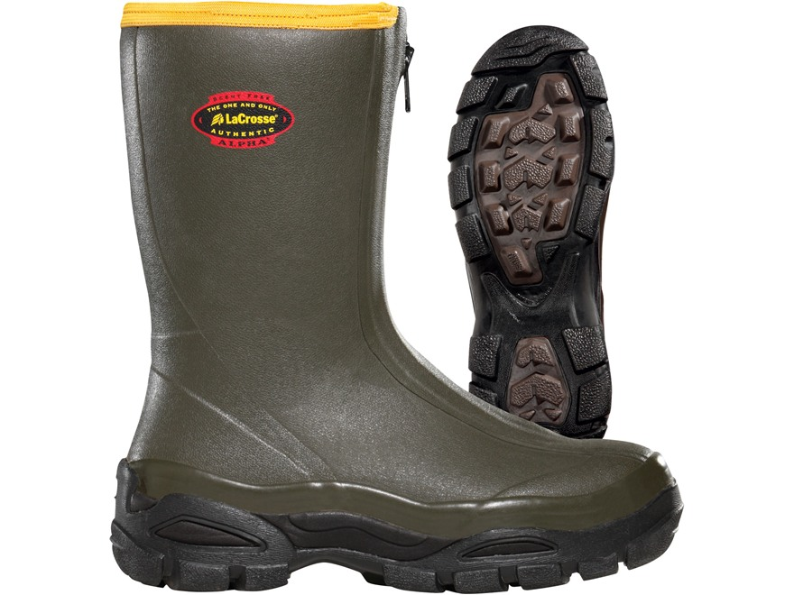 "LaCrosse Alphaburly Sport Front-Zip 12"" Waterproof Uninsulated Hunting Boots Rubber Cla..."