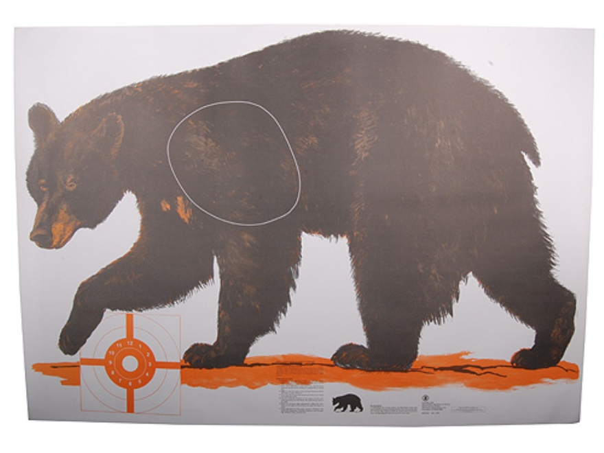NRA Official Lifesize Game Targets Black Bear Paper Pack of 12