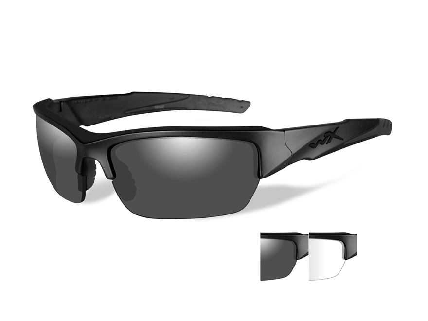 Wiley X Black Ops WX Valor Sunglasses Smoke Gray and Clear Lens