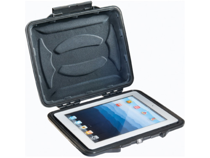"Pelican 1065 HardBack iPad Case with Liner Insert 10"" Polymer Black"