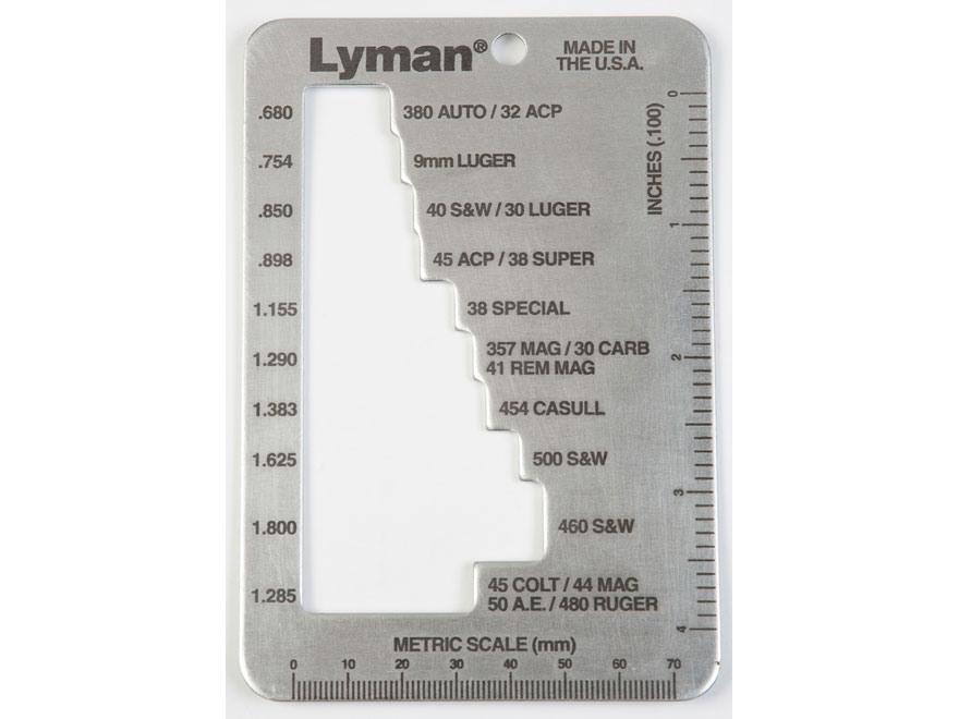 Lyman E-Zee Case Gauge Pistol & Revolver
