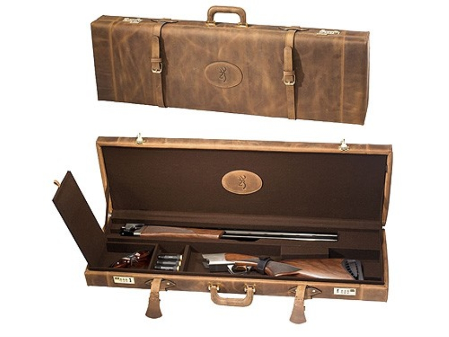"Browning Crazy Horse Takedown Shotgun Gun Case 34"" Distressed Leather Brown"