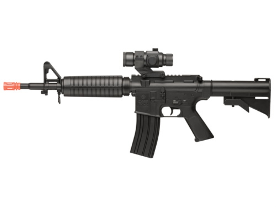 Crosman Airsoft Pulse R73 6mm BB Airsoft Rifle With Optic Electic Select Fire Polymer Stock Black