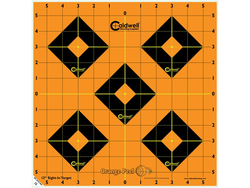"Caldwell Orange Peel Target 12"" Self-Adhesive Sight-In"