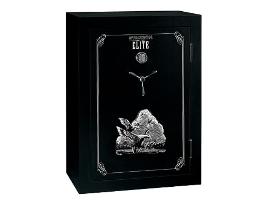 Stack-On Elite 45-Gun Fire-Resistant Safe with Electronic Lock & Flex Interior Black/Silver