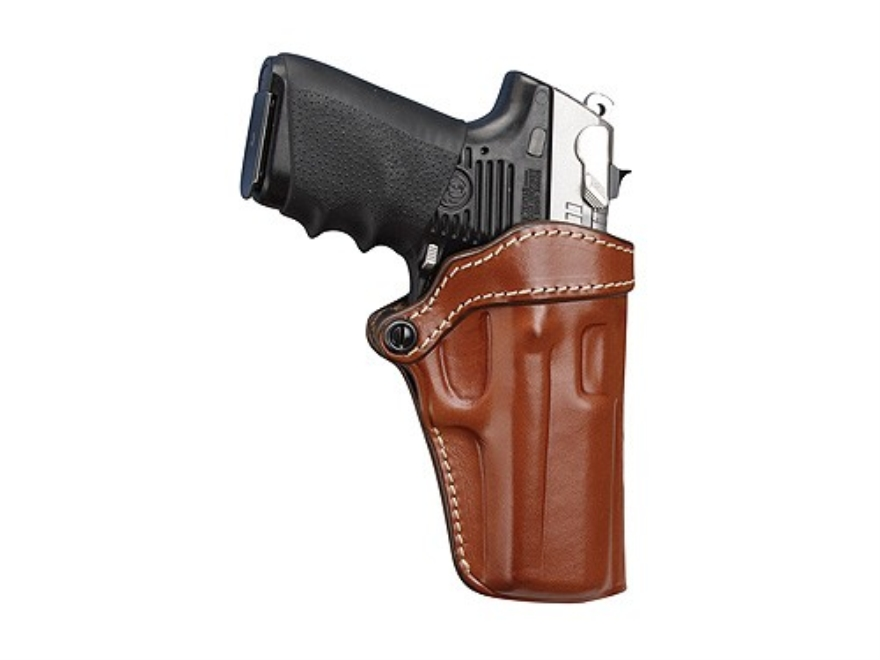 Hunter 5200 Pro-Hide Open Top Holster Right Hand Glock 29. 30, 39 Leather Brown