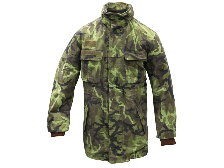 Military Surplus Czech M95 Parka with Liner Grade 2 Czech Woodland Camo Medium